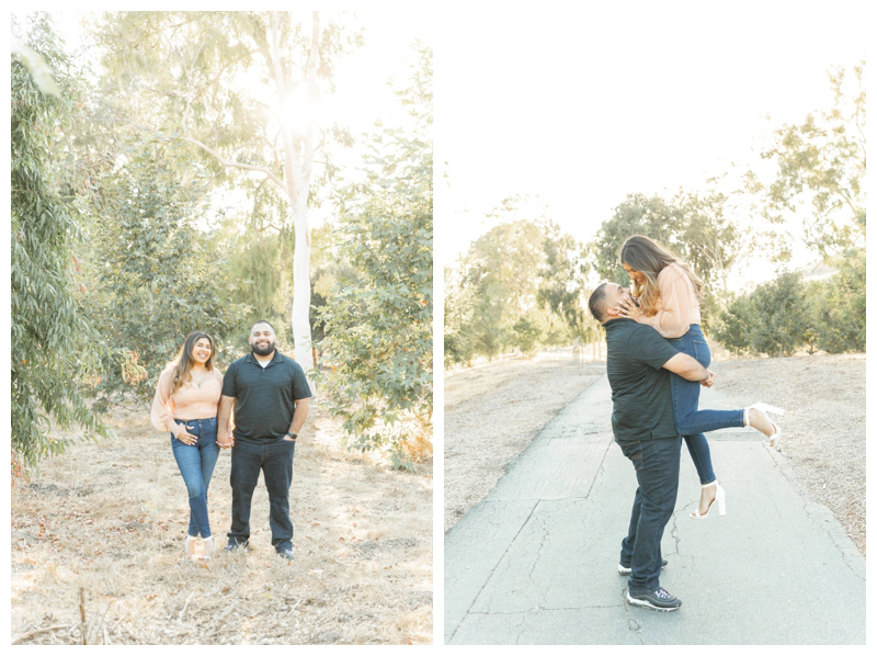 Outdoor engagement photos in Chino Hills, California
